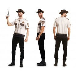 CAMISETA SHERIFF MANGA CORTA ADULTO