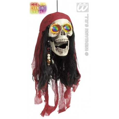 CALAVERA PIRATA CON LUCES