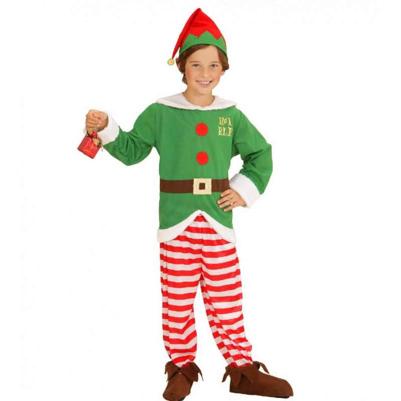Disfraz de elfo ayudante de pap noel ni o - Disfraz papa noel nino ...