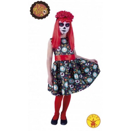 disfraz de katrina da de los muertos infantil