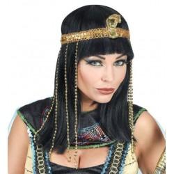 PELUCA EMPERATRIZ EGIPCIA CON CINTA