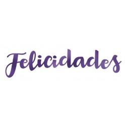 LETRAS METALIZADAS FELICIDADES