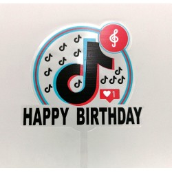 TOPPER TIKTOK HAPPY BIRTHDAY