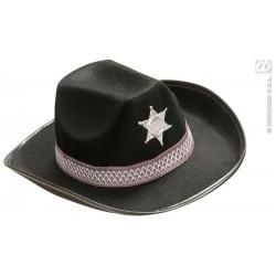 SOMBRERO SHERIFF NEGRO