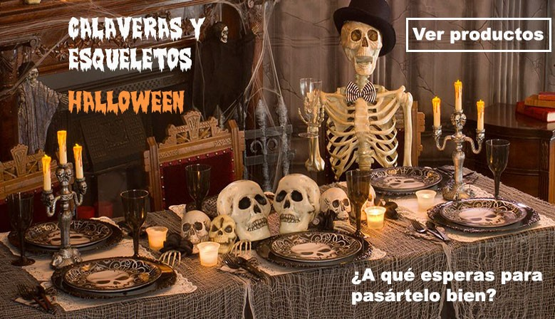 CALAVERAS Y ESQUELETOS HALLOWEEN